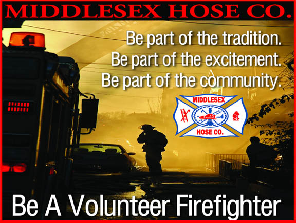 Recruitment for Middlesex Fire Co.